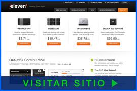 Imagen de pantalla de la página inicial de Eleven2. Haga clic en la imagen para visitar el sitio.