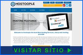 Imagen de pantalla de la página inicial de Hostoople. Haga clic en la imagen para visitar el sitio.