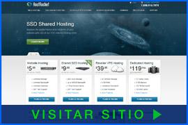 Imagen de Pantalla de la página inicial de HostRocket. Haga clic en la imagen para visitar el sitio.