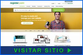 Imagen de pantalla de la página inicial de Register.com. Haga clic en la imagen para visitar el sitio.