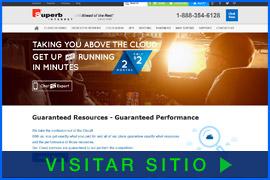 Imagen de pantalla de la página inicial del Alojamiento de Superb Internet. Haga clic en la imagen para visitar el sitio.