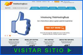 Imagen de pantalla de la página inicial de WebHostingBuzz. Haga clic para visitar el sitio.
