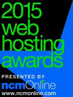 NCM Online 2015 Web Hosting Awards logo.