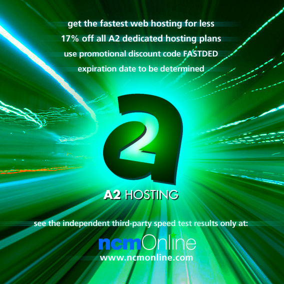 Click for A2 Hosting dedicated hosting 17% off promo code.