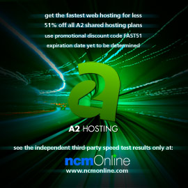 Click for A2 Hosting 51% discount promo code page.