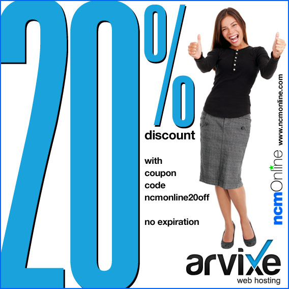 Click for Arvixe 20% Discount.