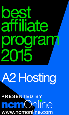 NCM Online 2015 Best Affiliate Program logo.