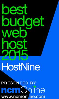 NCM Online 2015 Best Budget Web Hosting logo.