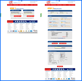 Screenshots of Certified Hosting checkout process. Click to enlarge.
