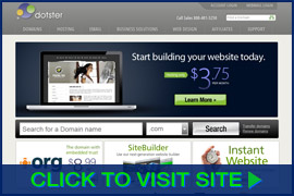 Screenshot of Dotster homepage. Click image to visit site.