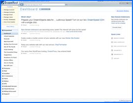 DreamHost proprietary control panel. Haga clic para ampliar.