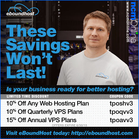 Click for eBoundHost Discounts.