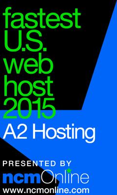 NCM Online 2015 Fastest Web Hosting United States logo.