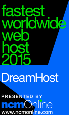 NCM Online 2015 Fastest Web Hosting Worldwide logo.