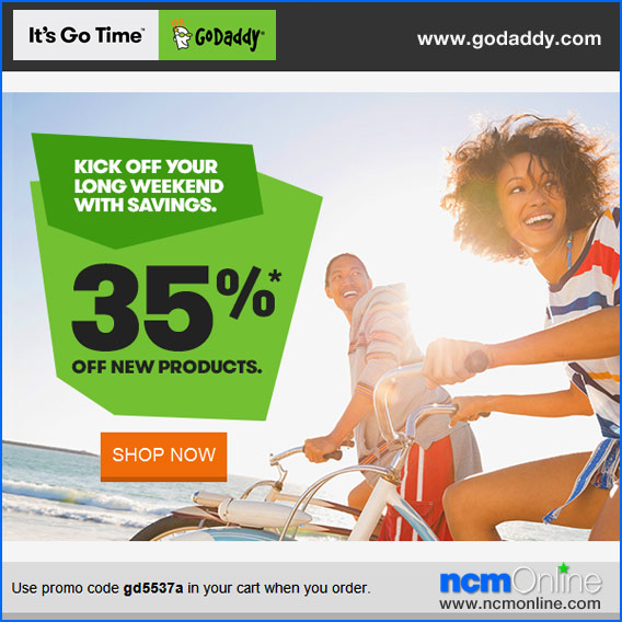 Click for GoDaddy 35% Discount.