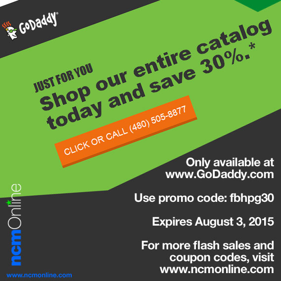 GoDaddy 30% Off Coupon Code.