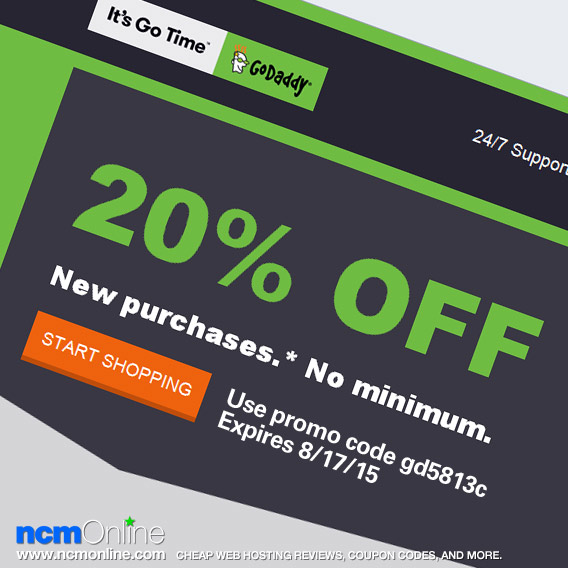 GoDaddy 20% Off Coupon Code.