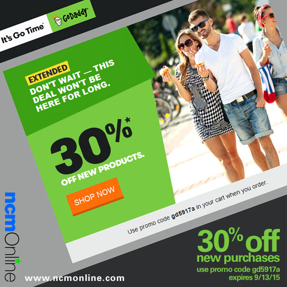 GoDaddy 30% Discount on New Purchases Promo Code.