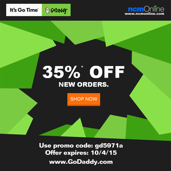 GoDaddy Flash Sale Promo Code 9/21/15