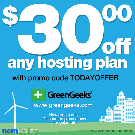 Click for GreenGeeks $30.00 Discount.