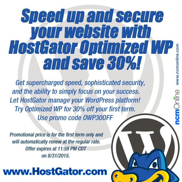 30% Off Optimized WordPress Hosting Packages.