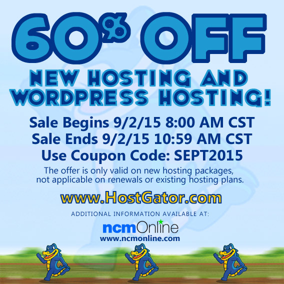 60% Off All New Web Hosting and WordPress Hosting Packages.