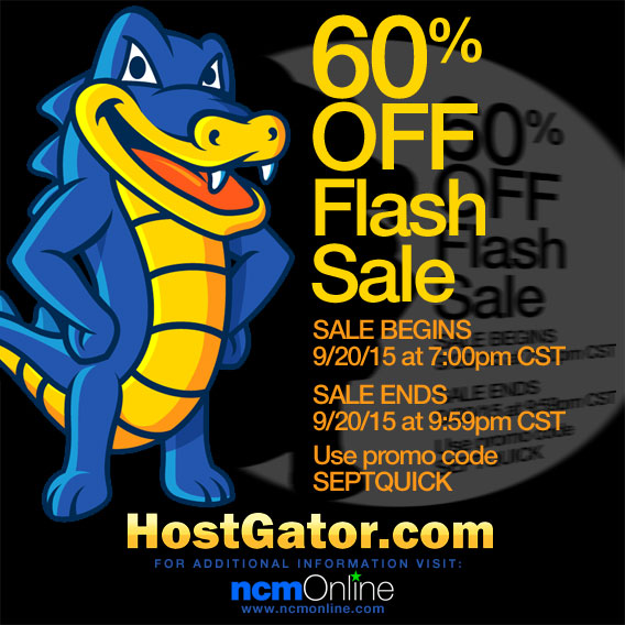Click for 60% Off at HostGator.com