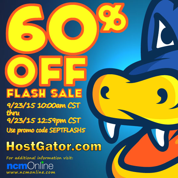 60% flash sale discount on dot com and dot net domain names, web hosting plans, and WordPress hosting