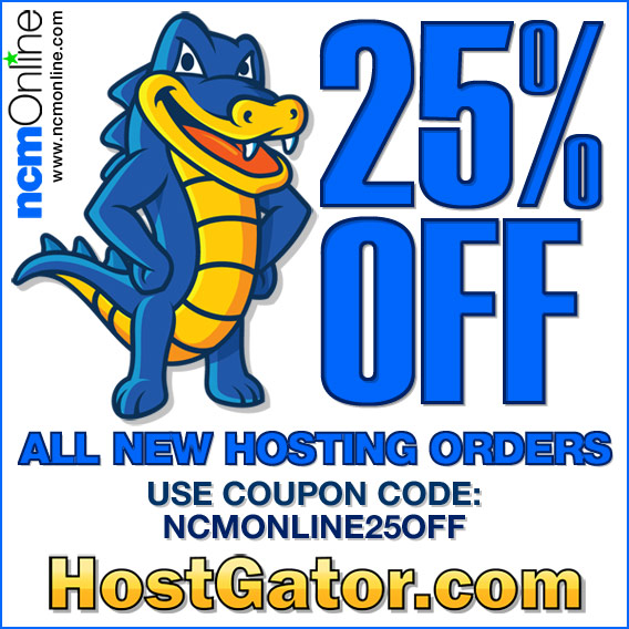 Click for HostGator 25% Discount.