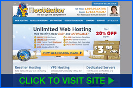 Screenshot of HostGator homepage. Click image to visit site.