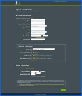 Captura de pantalla de HostMonster shopping cart. Haga clic para ampliar.
