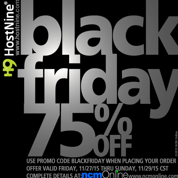 Click for HostNine Black Friday Promo Code Discount.