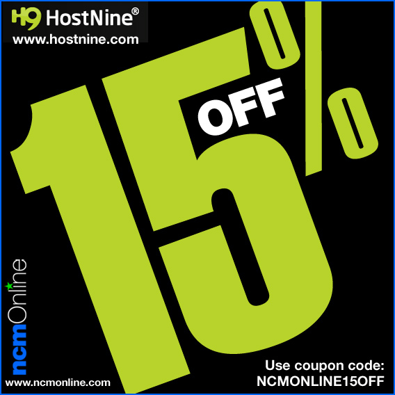 Click for HostNine 15% Discount.