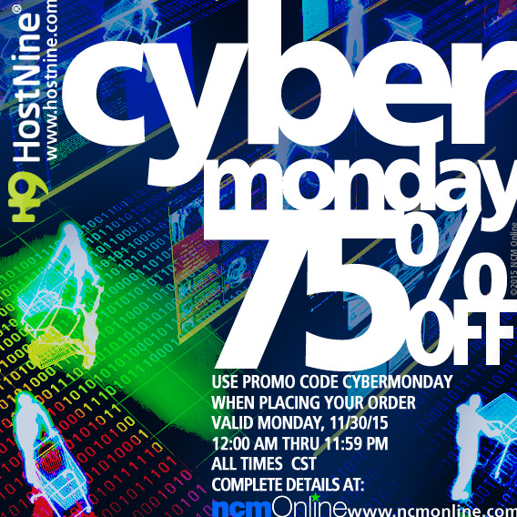 Click for HostNine Cyber Monday Promo Code Discount.