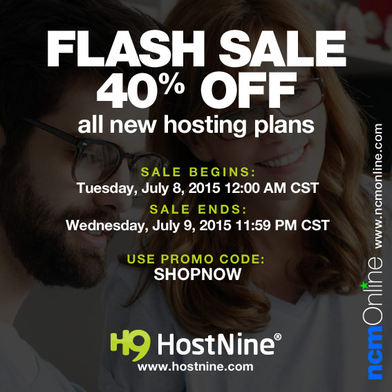 Click for HostNine 40% Flash Sale Discount.