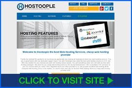 Screenshot of Hostoople homepage. Click image to visit site.