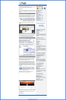 Screenshot of iPage Welcome-e-mail. Click to enlarge.