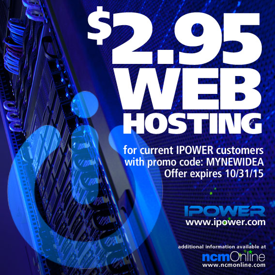 IPOWER Discounted Hosting for current customers.