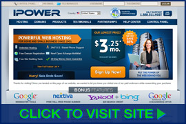 Screenshot of IPOWER homepage. Click image to visit site.