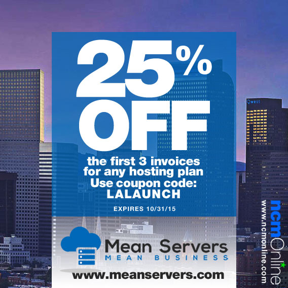 25% off at MeanServers on web hosting plans.