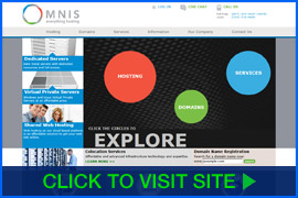 Screenshot of Omnis homepage. Click image to visit site.