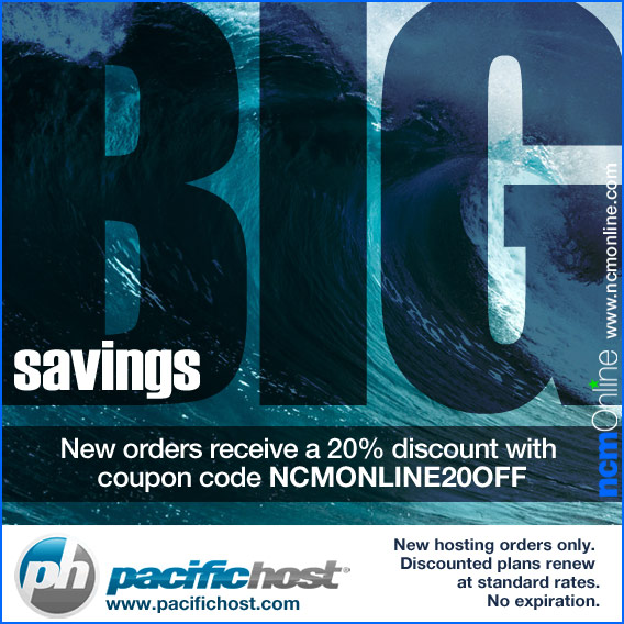 Click for PacificHost 20% Discount.