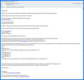 Imagen de pantalla del mensaje de Bienvenida de Servage One. Haga clic para ampliar.