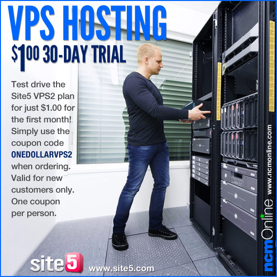 Click for $1.00 30-day trial of the Site5 VPS2 hosting plan.