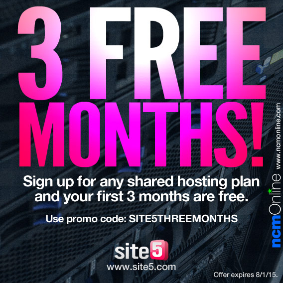 Click for 3 free months of any Site5 shared hosting plan.