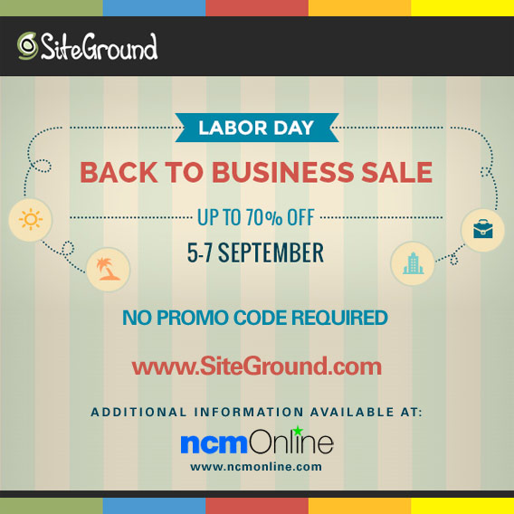 SiteGround Labor Day Back to Business Sale Discount.
