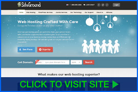 Screenshot of SiteGround homepage. Click image to visit site.
