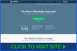 Screenshot of StableHost homepage. Click image to visit site.