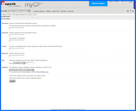 Screenshot of Superb Internet WordPress Installer. Click to enlarge.