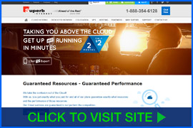 Screenshot of Superb Internet Hosting homepage. Click image to visit site.